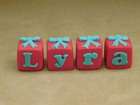 Name Blocks with Bows